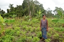 Ranys-mother-showing-their-new-vegetable-and-banana-farm-located-in-from-of-the-forest.JPG